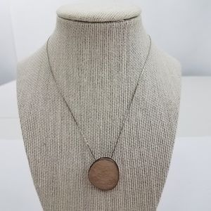 Jewelry - Necklace Sun Logo Silver Tone Faux Mother of Pearl